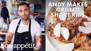 Download Andy Makes Grilled Short Ribs with Pickled Daikon | From the Test Kitchen | Bon Appétit Mp3 and Videos