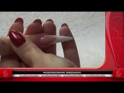 Видео Миндаль наращивание ногтей фото