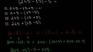 Свойства сложения и вычитания,245 15 5