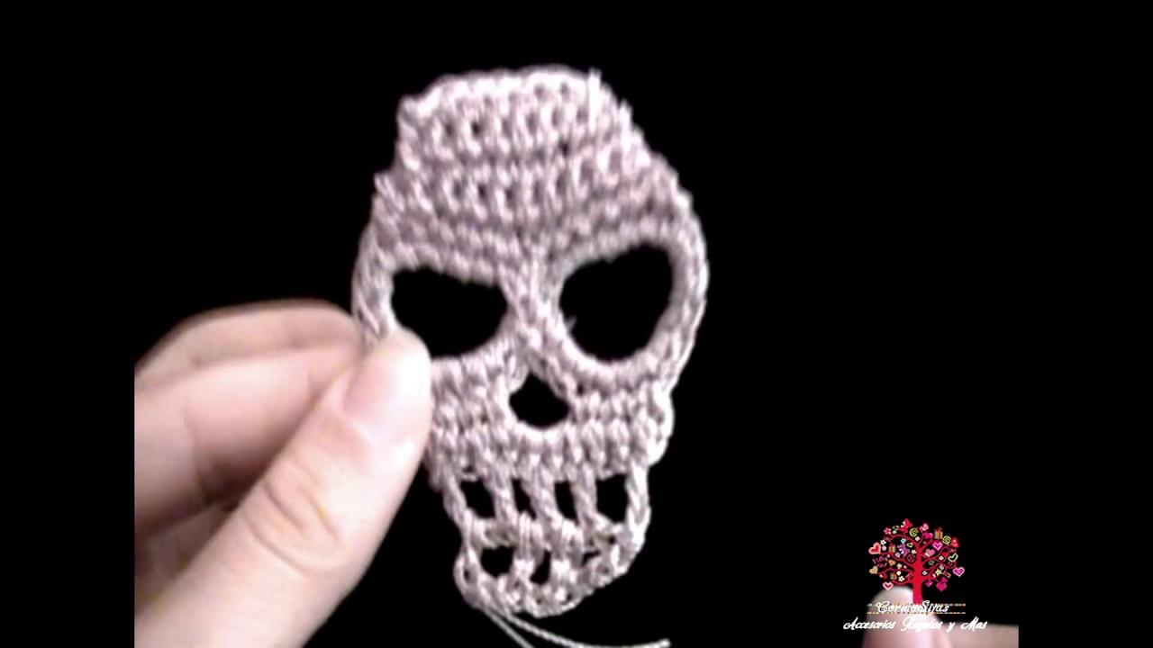 Calavera Tejida - Craneo a crochet - YouTube