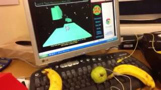 Game | Using fruit to control a computer game | Using fruit to control a computer game