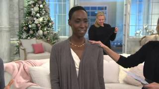 Barefoot Dreams Bamboo Chic Lite Calypso Wrap on QVC