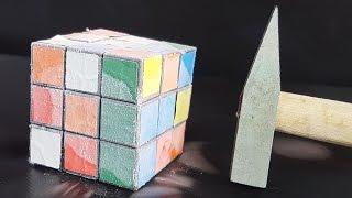 science experiment liquid nitrogen vs rubik s cube