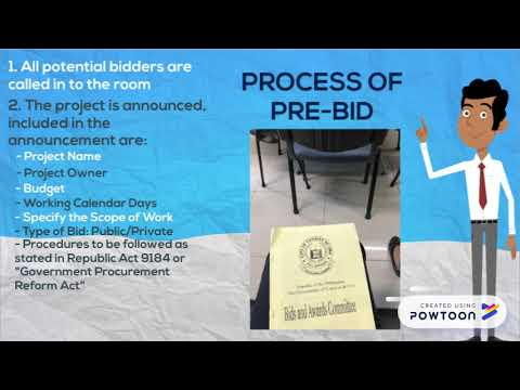 Opening of Bids and Pre-Bid Conference