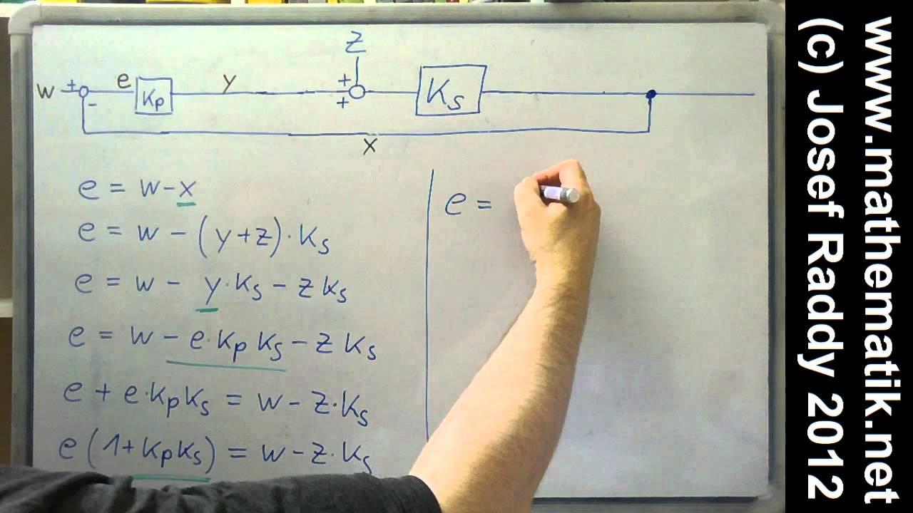 p regler formel f r regeldifferenz herleiten st rung wirkt am eingang der strecke youtube