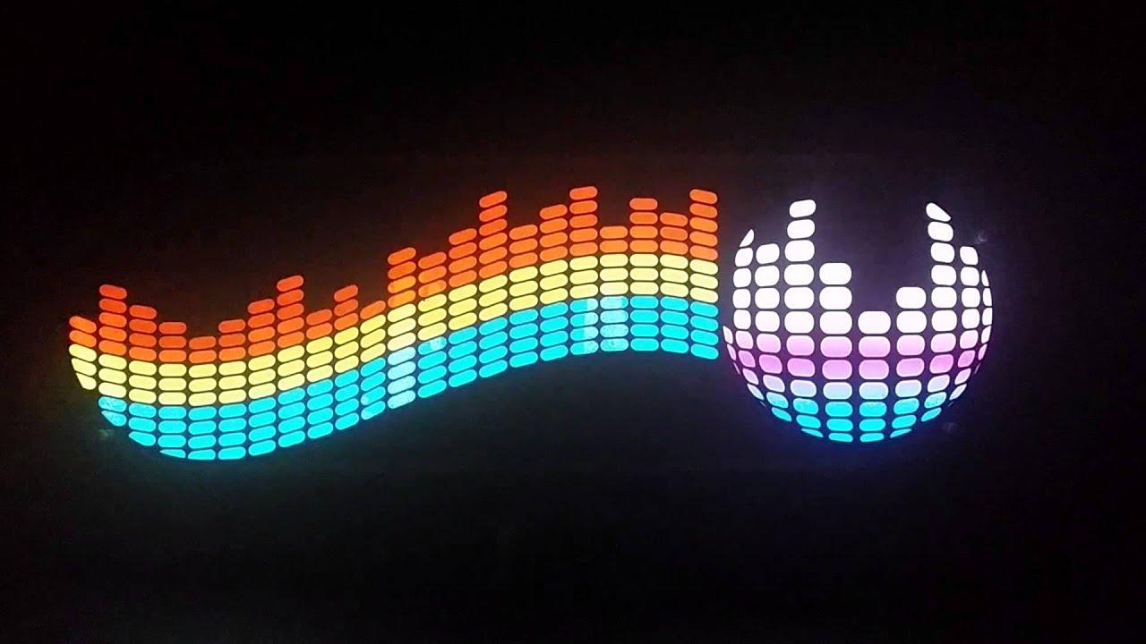 Car Sound Equalizer >> Colourful Flash Car Sticker Music Rhythm LED EL Light Equalizer O - YouTube