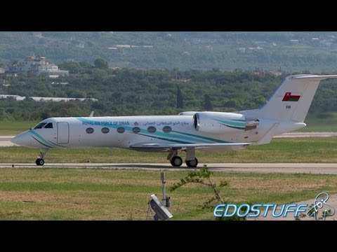 Royal Air Force of Oman - Gulfstream Aerospace G-IV - Takeoff from Split airport SPU/LDSP