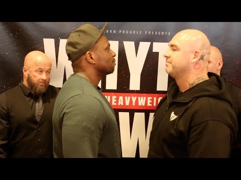 CAN WE BE CIVIL? - DILLIAN WHYTE v LUCAS BROWNE - HEAD TO HEAD @ PRESS CONFERENCE / WHYTE v BROWNE