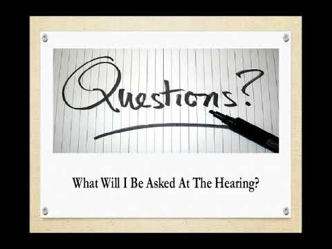 SS Hearing Preparation Video