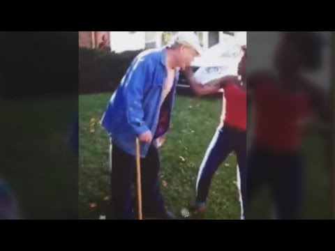 Disturbing Video Shows Teenage Girls Allegedly Assaulting Man, 62, with a Cane
