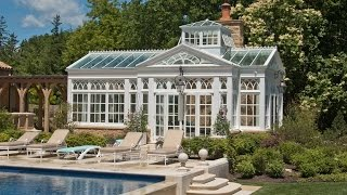 Raised Lantern Pool House Conservatory