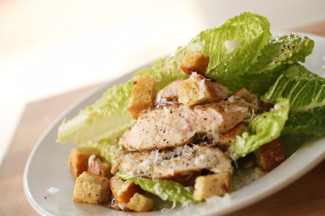 Easy Chicken Caesar Salad Recipe Youtube