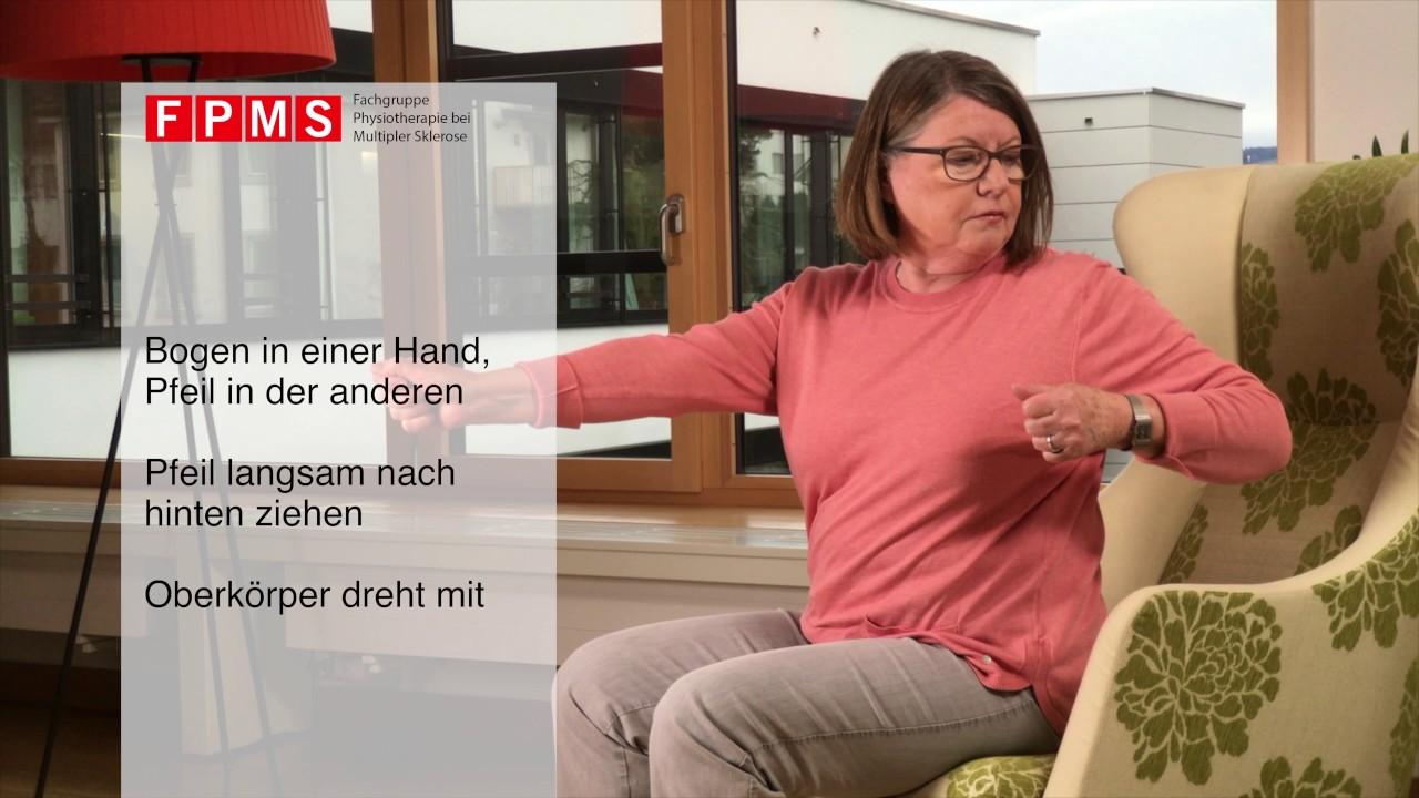 Physiotherapie-Übung: «Pfeilbogen»