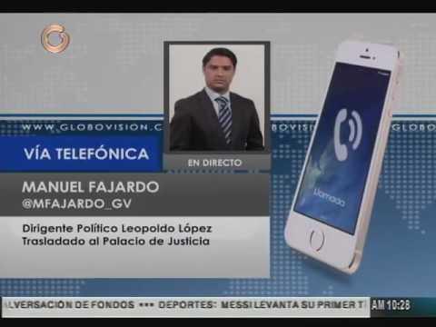 Leopoldo López se encuentra en el Palacio de Justicia