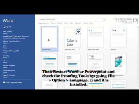 Microsoft Word Proofing Tools