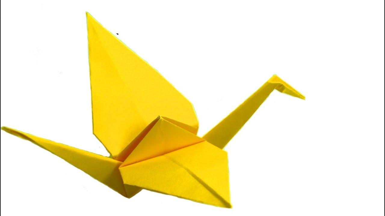 Áƒ¦ Cara Membuat Origami Burung Bangau Untuk Anak Youtube