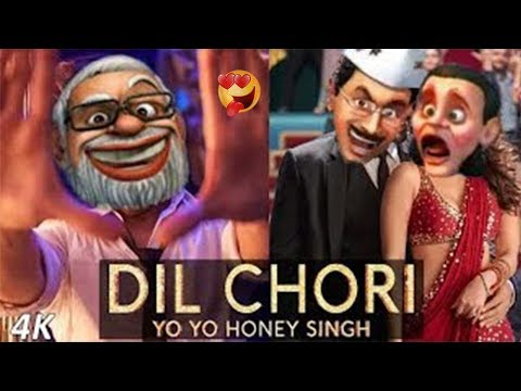 Dil Chori (Modi Style) Yo Yo Honey Singh | Animated Funny Video