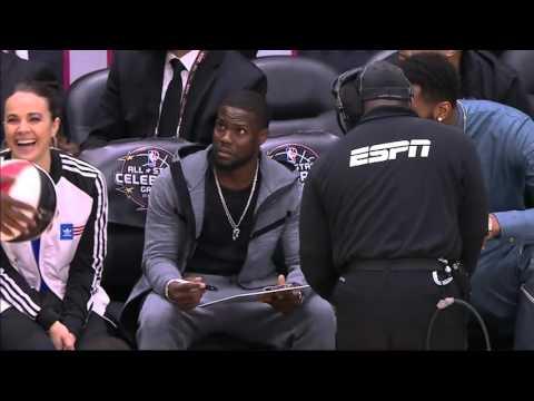 NBA 2016 ASG Celebrity Coach Drake Vs Kevin Hart