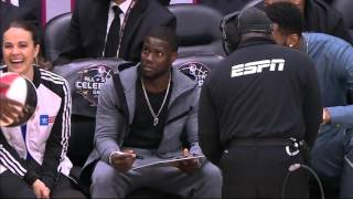 NBA 2016 ASG Celebrity Coach Drake vs Kevin Hart