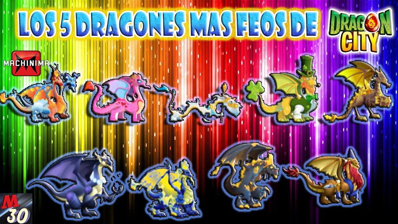 Los 5 dragones mas feos de dragon city youtube for Gimnasio 5 dragones