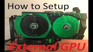 How to Setup the Exp Gdc eGPU adapter (Basic hard/software)