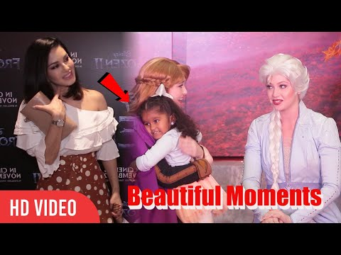 Sunny Leone's  Daughter Nisha  Beautiful Moments   Frozen 2  Red Carpet