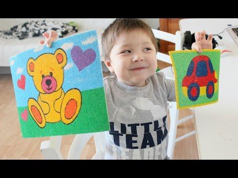 Картинки из ПЕСКА с ребенком