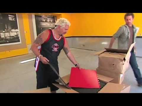 Guy Fieri\'s Garage Mahal makeover featuring Tuff Seal Tile - YouTube
