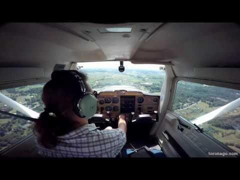My landing at KLNS (Lancaster Airport - USA-Pennsylvania)