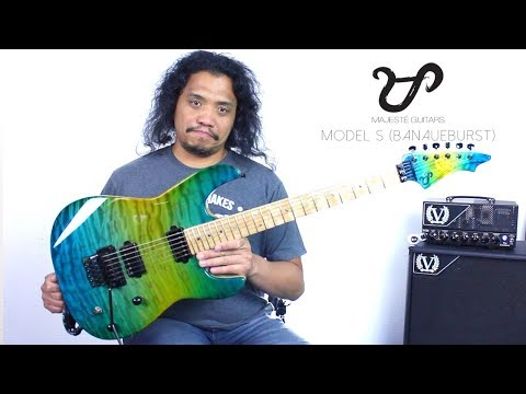 New Song and Guitar Review   Majesté Guitars Model S BANAUEBURST