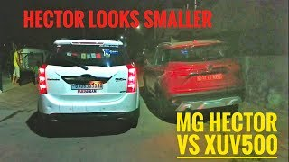 MG hector vs XUV500 - quick outer comparison