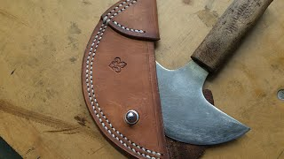 round knife sheath how to make one