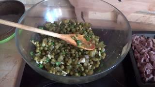 Блюда из телячьего языка. Часть 3. Зимний салат с языком
