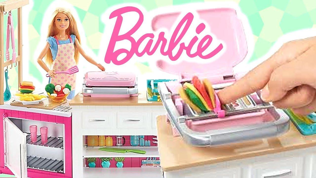 Barbie Idealna Kuchnia Frh73 Kreatywny Zestaw Youtube