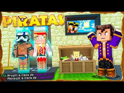 Después de esto Vegetta se quedó calvo... Entramos en su casa / Minecraft Piratas Aroyitt