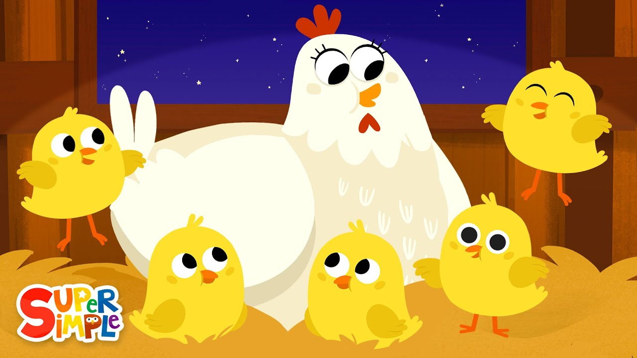 Five Little Chicks | Lullaby for Kids | Super Simple Songs