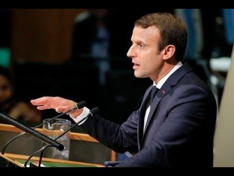 كلمة الرئيس الفرنسي مانويل ماكرون في اجتماعات الدورة 72 للجمعية العامة