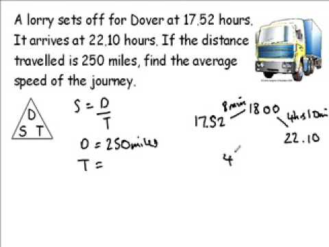 how to create equations with distance time and speed