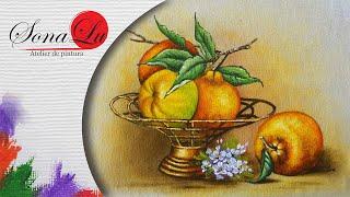 Poncã e Fruteira em Tecido – Sonalupinturas