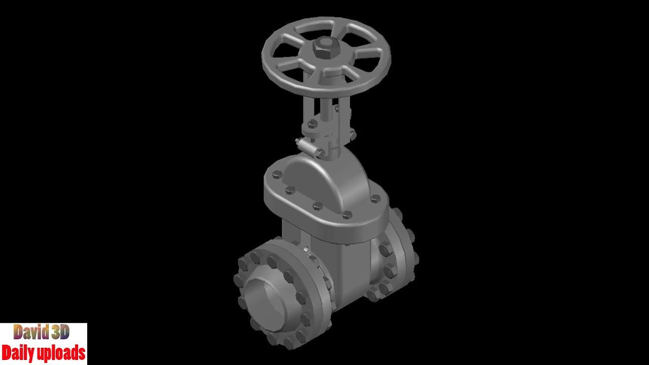 Gate Valve || Download free 3D cad models #5050 - Video