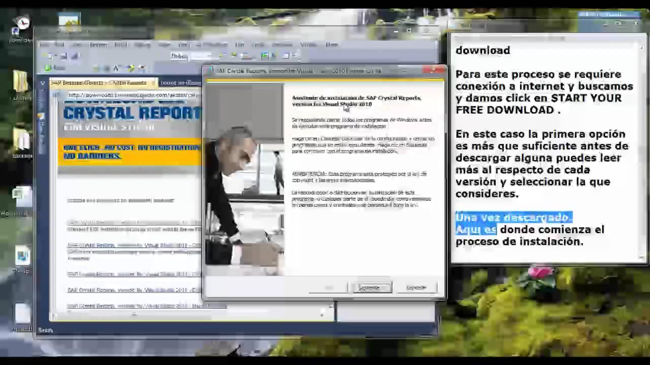 Instalacion Crystal Report Visual 2010 mp4
