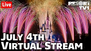 🔴Live: July 4th Fireworks at Walt Disney World - Virtual Live Stream