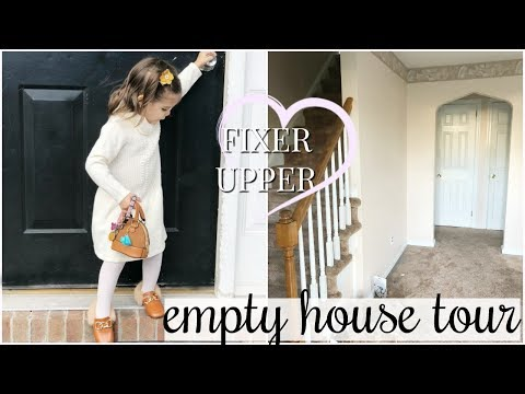 EMPTY HOUSE TOUR  OUR FIXER UPPER  PRERENOVATIONS!
