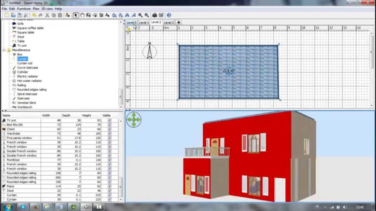 Desain Rumah 2 Lantai Dengan Sweet Home 3d Arsihome