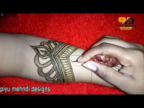 Bridal Mehandi Design Tutorial Step By Step For Eid Special 2018