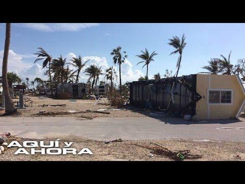 Desolación y caos en los cayos de Florida luego del paso del huracán Irma