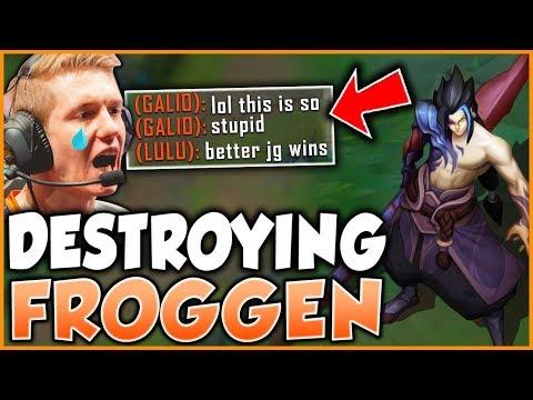 CHALLENGER KAYN DESTROYS FROGGEN IN RANKED (INSANE STOMP) - League of Legends thumbnail