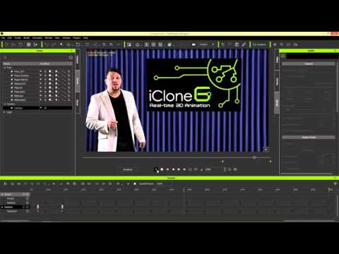 iClone 6 Tutorial - Compositing Real Actors in a Virtual Set