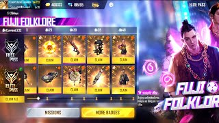 GARENA FREE FIRE NEW FUJI FOLKLORE ELITE PASS FREE SEASON 33 UPGRADED | Captain gamer |