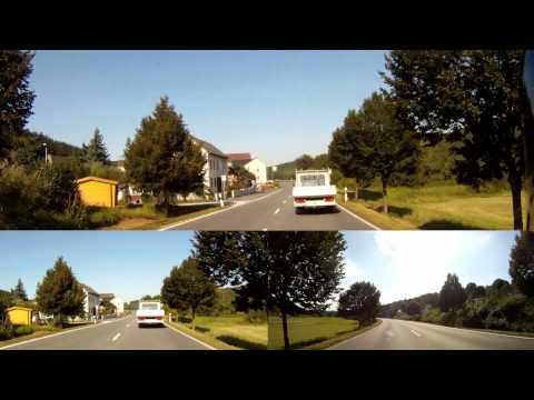 Full HD - GoPro True 3D Ride on B54 - BMW K1200r - Aartal-Strasse
